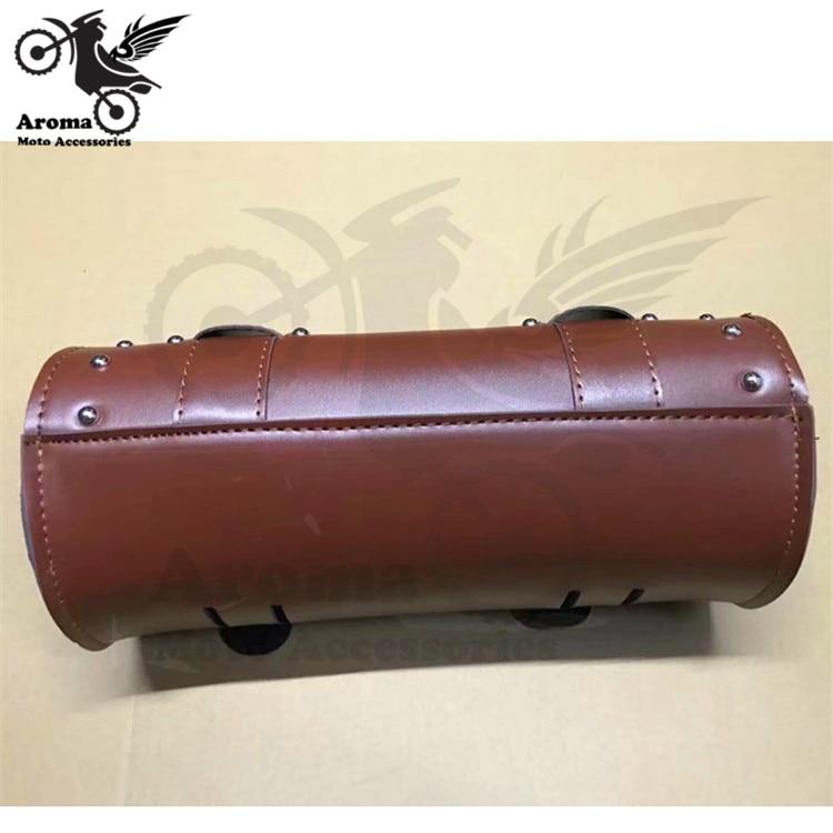 bolsa de couro marrom para moto atv 04