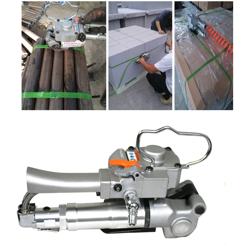 Free Shipping  AQD-19 Pneumatic Strapping Tool With Friction Welding For 13-19MM PP PET Poly Strap Bander packing machine