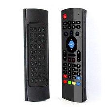FGHGF MX3 2.4Gคอนโทรลเลอร์คีย์บอร์ดไร้สายรีโมทคอนโทรลAir Mouseสำหรับสมาร์ทAndroid 7.1กล่องทีวีX96 Mini S905w tx3 Tvbox