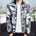 New 2017 spring fashion letter print camouflage uniform jacket men slim fit thin jacket men jaqueta masculinasize m-4xl JK40