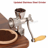 Upgraded Coffee Bean Grinding Machine Manual Stainless Steel Sesame Mill Grinder DIY for Grinding Peanut Soybean Walnut