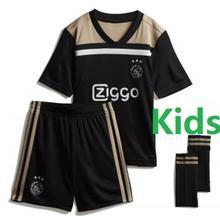 39280ee4497 18 19 ajax socce kids shirt 2018 2019 home jersey away black red boys child  T