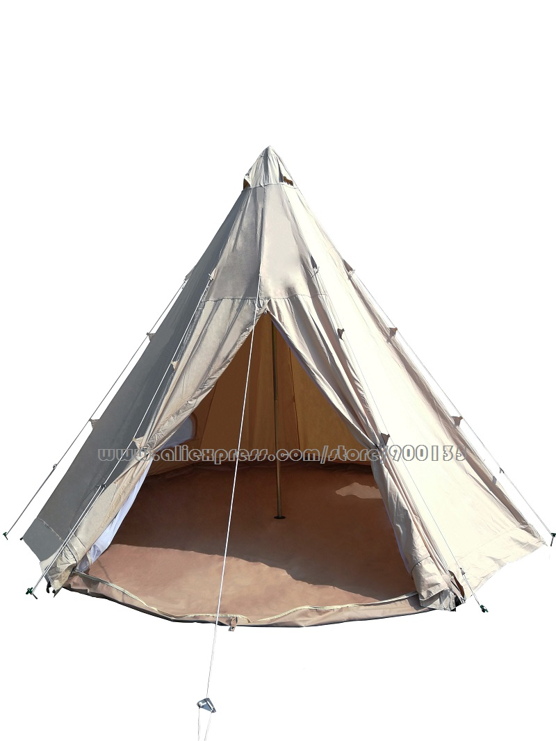 Buy diameter 4m 5m waterproof cotton for Reliable tipi