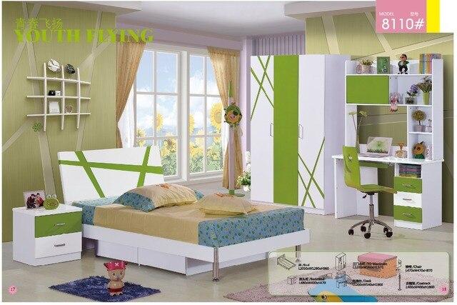 2018 Limited Real Kids Table And Chair Enfant Loft Bed Set Wood Kindergarten Furniture Camas Lit Enfants Childrens Bunk Beds