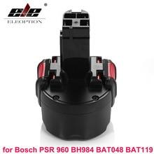 ELEOPTION BAT048 9.6V 2000mAh Ni-CD Rechargeable Battery Power Tools Battery for Bosch PSR 960 BH984 BAT048 BAT119