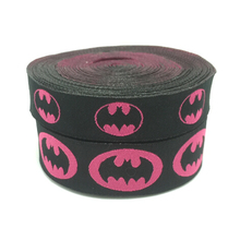 2015 NEW  wholesale 5/8+7/8(16mm+22mm 20y/lots) Polyester female version batman Woven Jacquard Ribbon For Dog Collar