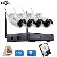 Wireless CCTV System 4ch Powerful Wireless NVR IP Camera IR CUT Bullet CCTV Camera Home Security
