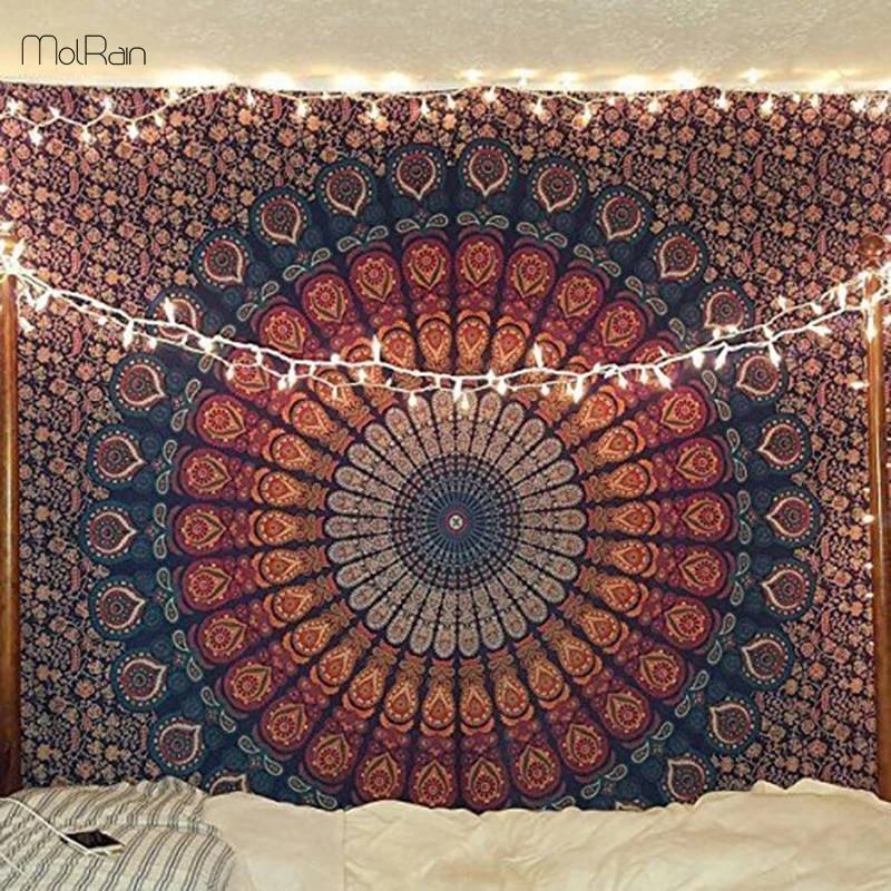 Mandala Tapestry Indian Home Wall Hanging Decor Bohemian Carpet Tapis Yoga