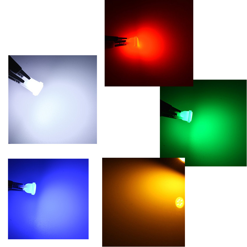 Image 5 - 10PC T10 LED Lights Car Interior LED T10 COB W5W 168 Wedge Door Instrument Side Lamp Light Bulbs White Red Blue Green Pink-in Signal Lamp from Automobiles & Motorcycles