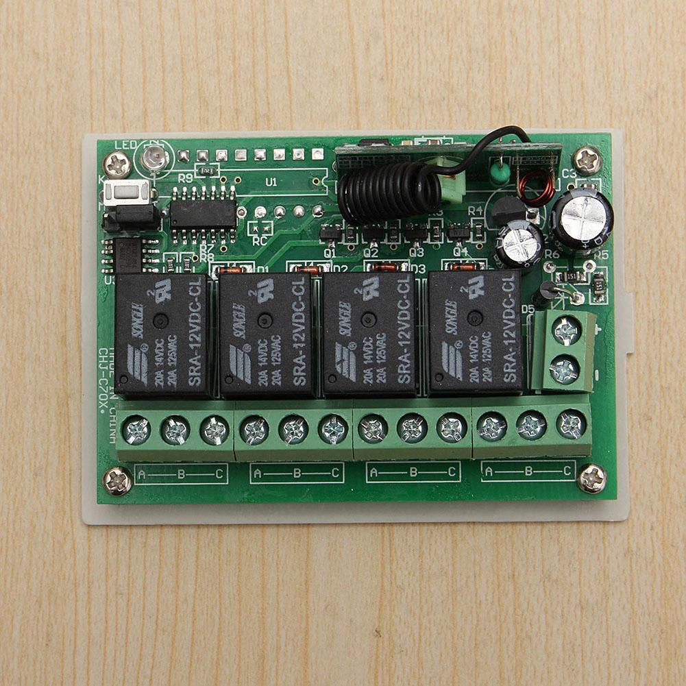 Dc 12v 4ch 200m Wireless Remote Control Relay Switch 2 Transceiver Wiring Receiver Circuit Power In Controls From
