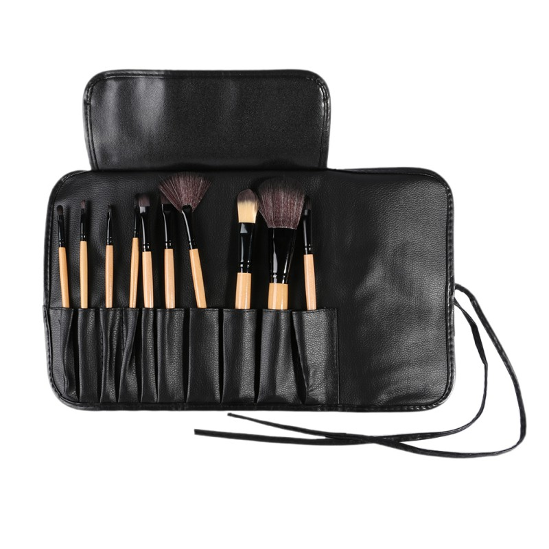 10 Pcs Cosmetic Bag Travel Package Makeup Brushes Set Tools Make-up Toiletry Kit Make Up Brush Set Case Black Pink make up for you 10 in 1 cosmetic makeup brush tools set w carrying bag deep pink