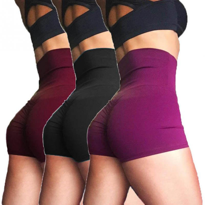 נשים של מכנסיים אלסטיים כושר מכנסיים קצרים סקסי גבוה מותן Push Up ירכי ספורט חדר כושר מכנסי ריצה לנשים באיכות גבוהה מכירה לוהטת