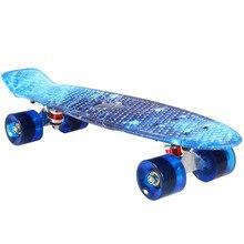 22inch Starry Sky Skateboard 100kg Load Retro Skate Board Mini Board Outdoor Sport Street Skateboarding for Adult Child Gift