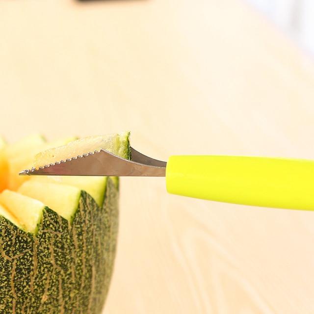 2in1 Dual-head Fruit Ball Carving Knife Kiwi Fruit Waterlemon Scoop Melon Digger Fruit Jar Mashed Potato Baller Ice Cream Spoon  5
