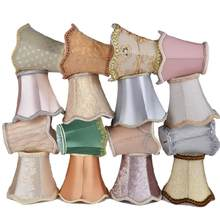 Art Deco Ripple Table Lamp Shades Crystal Chandelier Wall Lamp Fabric Lampshade Nordic Style Modern Lamp Cover for Home Decor(China)