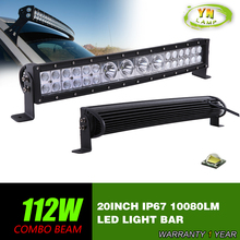 20inch 112W Curved  Hybrid  LED Work Light Bar Spot Flood Combo Beam SUV ATV 4×4  Truck 4WD mixed row  10080LM