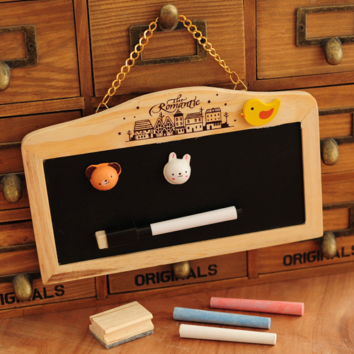 Dual side blackboard and whiteboard chalk set Mini wall mount black board Wooden Zakka home decoration school supplies 6520 nail art salon supplies kit tool uv gel nail polish diy makeup full set manicure set free shipping