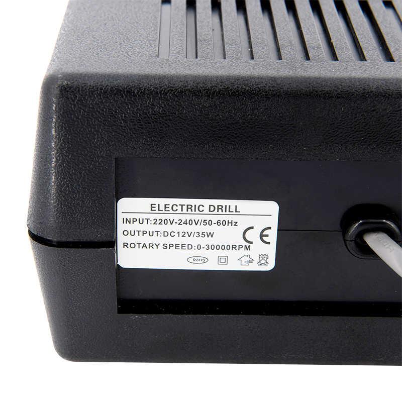 35W Black Pro Electric Kuku Seni Bor Mesin Kuku Peralatan Manicure Pedicure File Electric Manikur Bor & Aksesori