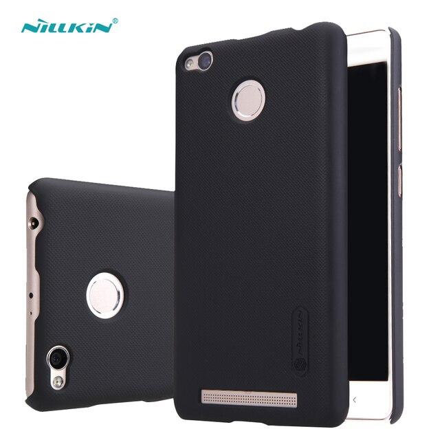 redmi 3s pro case cover Nillkin frosted case for xiaomi redmi 3s case hard plastic back cover with Screen Protector redmi 3 pro