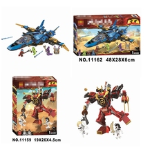 2019 new creative ninja aircraft building blocks set childrens educational toys compatible toy gift