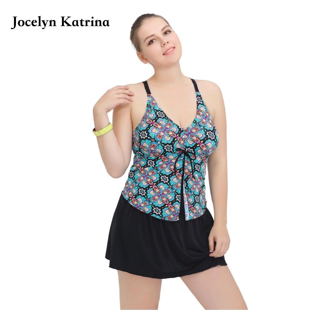 2017 Plus Size Newest Padded Halter Skirts Swimwear Women One Piece Swimsuit Beachwear Bathing suit Swimwear Dress 2XL-6XL