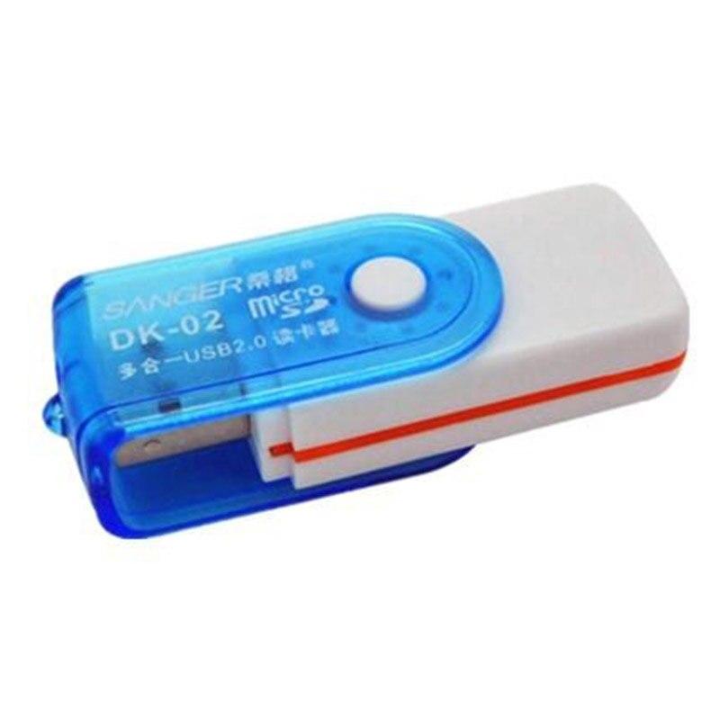 Larryjoe 4 in1 USB 2.0 High Speed Multi-Function All IN 1 MS M2 SDHC TF MMC Micro SD U-Flash Memory Card Reader Random Color