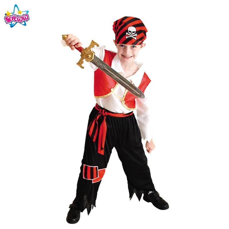 Ilmainen toimitus Puku pojille Lapset Pirate Puvut Fantasia Infantil - Carnival puvut - Valokuva 3