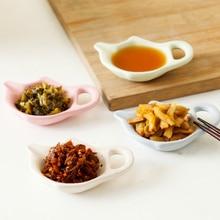 teapot shape plastic sauce dish small snack bowl cheap tableware wholesale