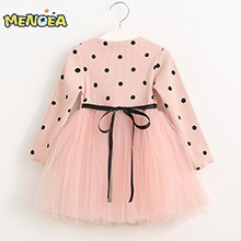 Menoea-2016-Autumn-Cute-Style-Girls-Dress-Long-sleeve-Dot-Mesh-Design-Princess-Dress-Children-Winter