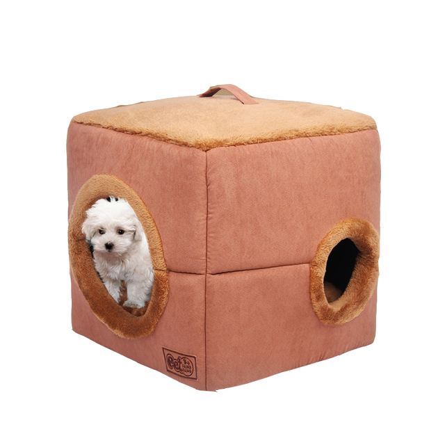 Portable Pet Dog Cat House Foldable Travel House Pet Supplies Plush  Kennel For Universal Pet Dog Cat Bed Sofa Mat 2 Size