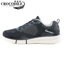 Crocodile Air Mesh Men Running Sneaker Shoes Male Training Sport for Athletic Jogging Trainer Fabric Weaving Light Sho