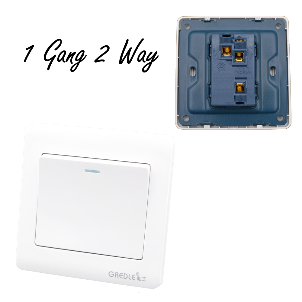 Luxury Wall Switch 1 Gang 2 Way White Brief Art Weave