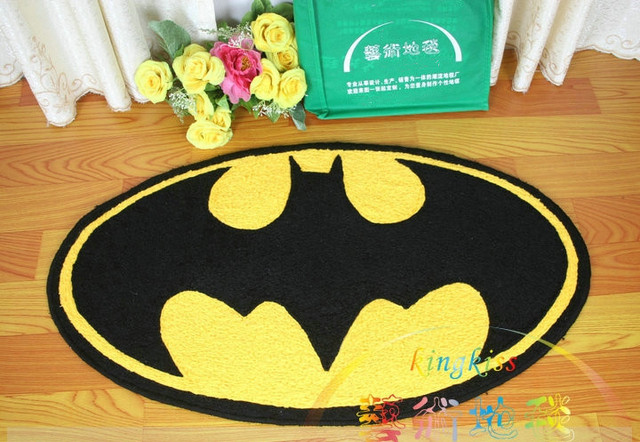 Fluffy Carpet Batman Area Rug Living Room Bathroom Mat Doormat Acrylic  Alfombras Tapete Tatami Tapis Tappeto Oval Home 45*84cm