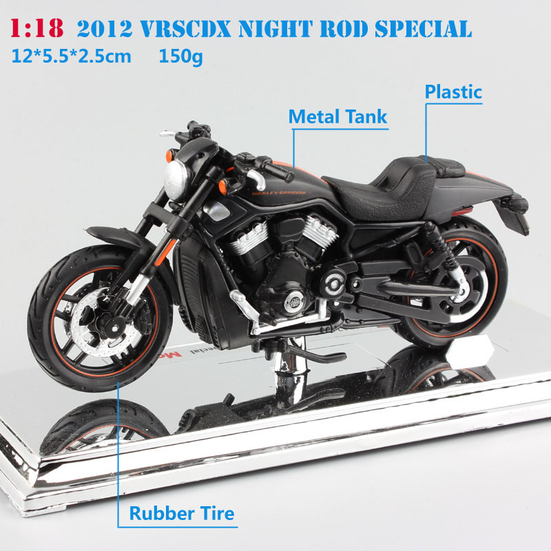 Image 2 - 1/18 Scale maisto 2012 VRSCDX Night Rod Special Diecast model motorcycle Cruiser street race muscle bike toy CollectibleDiecasts & Toy Vehicles   -