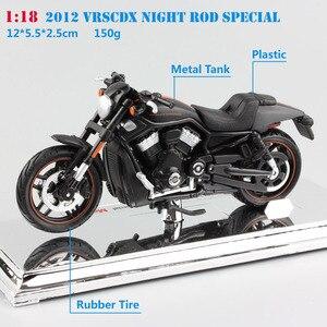 Image 2 - Maisto varilla de noche VRSCDX, Modelo Especial fundido a presión, modelo de motocicleta Cruiser street race, juguete de bicicleta muscular coleccionable, escala 1/18, 2012