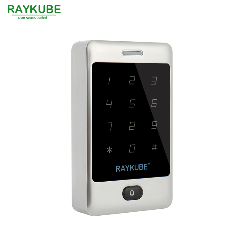 RAYKUBE RFID 125HKz Password Touch Keypad Waterproof IPX3 For Door Access Control System R T03 Silver