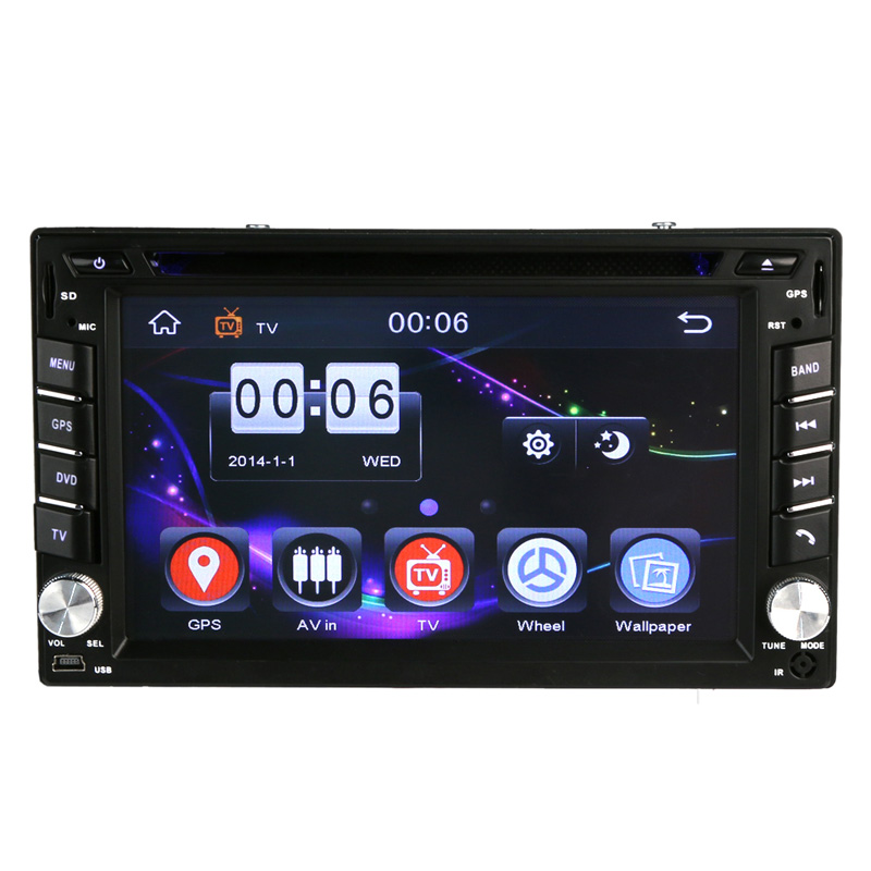 6.2 inch 2 DIN Car DVD CD Player Build-in GPS 800*480 HD Screen Car GPS Navigation with no map автомобильный dvd плеер joyous kd 7 800 480 2 din 4 4 gps navi toyota rav4 4 4 dvd dual core rds wifi 3g