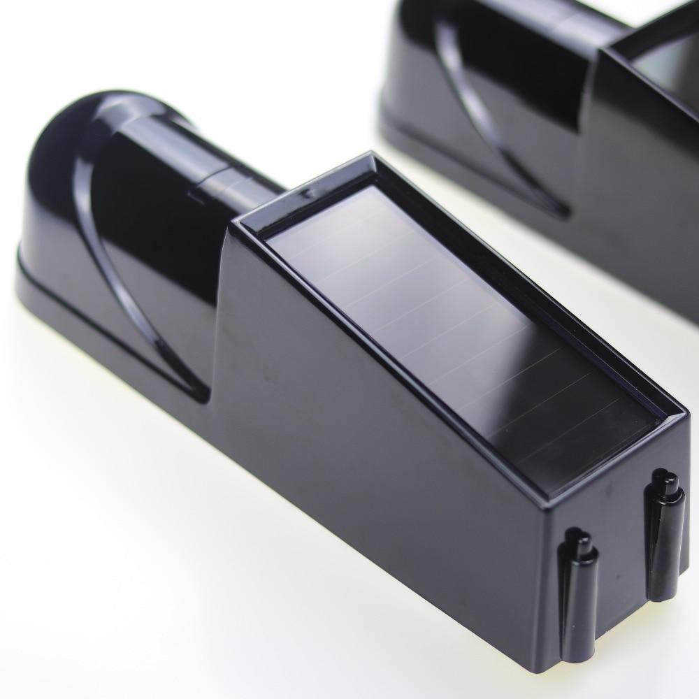 1 Paar 433 MHz Wireless Solar IR-Sensor Perimeter Alarm System Set photoelektrische Infrarot-Strahldetektor