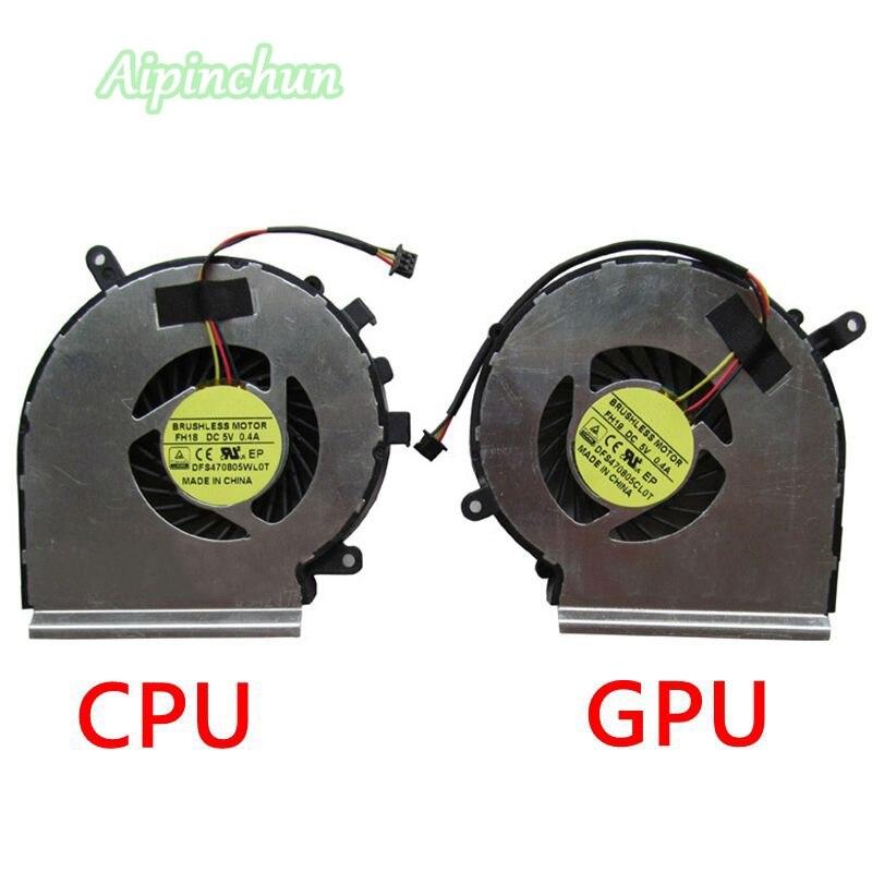 Original for MSI MS-16J2 MS-16J1 MS-16J5 MS-1792 MS-1795 MS-1791 CPU+GPU Fan