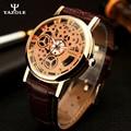 YAZOLE Мужчины Часы 2016 Лучший Бренд Класса Люкс Известный золотой скелет Наручные Часы мужские Часы Мужской Наручные Кварцевые часы Relogio Masculino