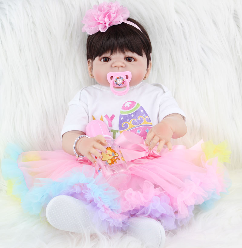 Полностью силиконовая кукла реборн для девочек, Реалистичная кукла новорожденного, принцесса, милое пасхальное яйцо, одежда, подарок на ден...