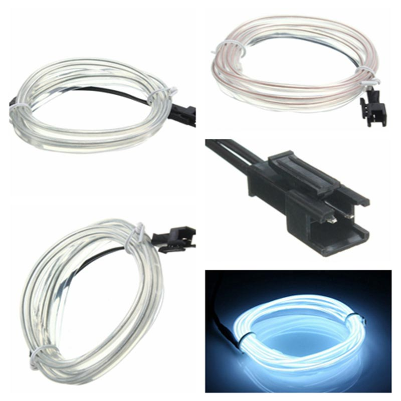 Waterproof LED Strip Light Neon Lights Glow EL Wire Rope Tube Cable 10 Colors Choice Dance Party Clothes Car Bike Decor 5M