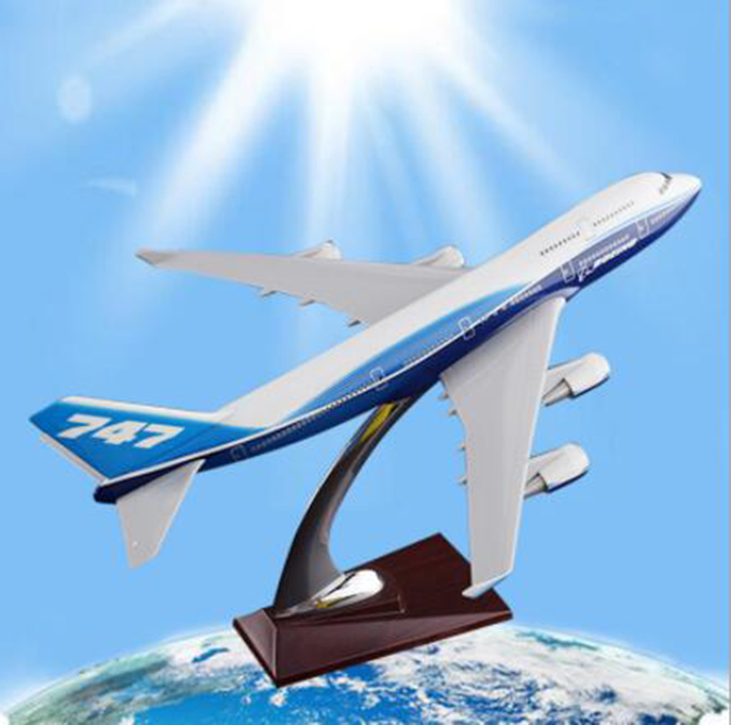 collectible Boeing747 big 32cm airplane model toys airlines aircraft diecast plastic alloy plane gifts for kids children