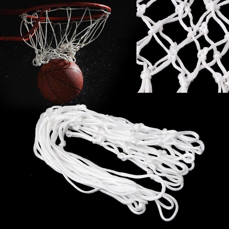 Deluxe Non Whip Replacement Basketball Net Durable Rugged Nylon Hoop Goal Rim Mesh