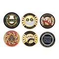Gold Platte Abzeichen Gedenk Abzeichen Club Spiel Poker Chip Card Guard Schützen, Metall Material