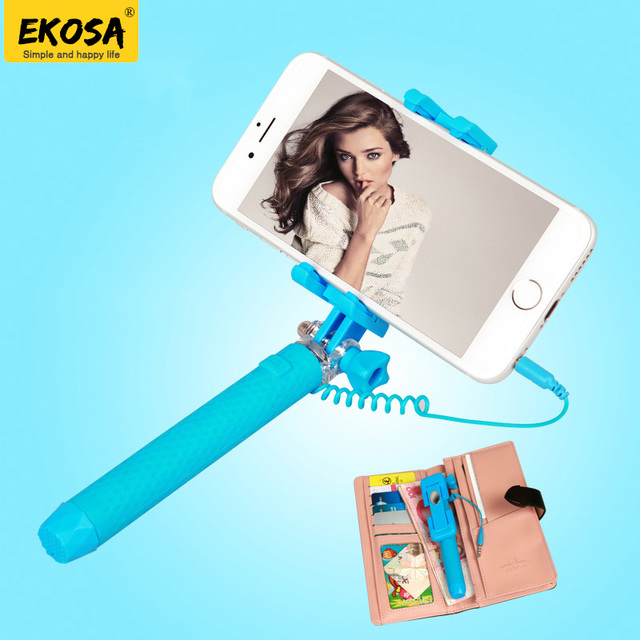 Ekosa Mini Wired Selfie Stick To Mobile for 5S Iphone Gopro Camera ...