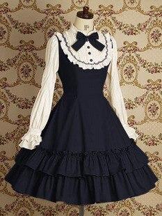 (LLT011) princesse lolita robe dentelle institut vent restauration anciennes façons robe à manches longues quotidienne au printemps et en automne tenue