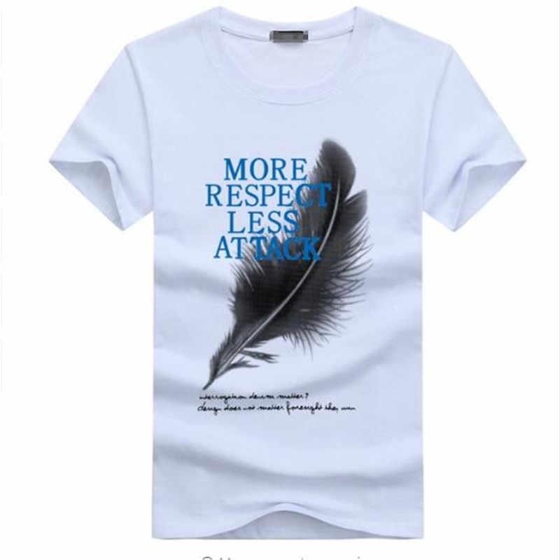 a0f2a38ffb93d7 2018 New Arrivals summer 5XL Men T-Shirt Short Sleeve Feather Respect  Attack Casual Cotton