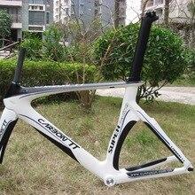 Новое поступление!! дизайн аэро углеродный триатлон велосипедная рама белый/черный
