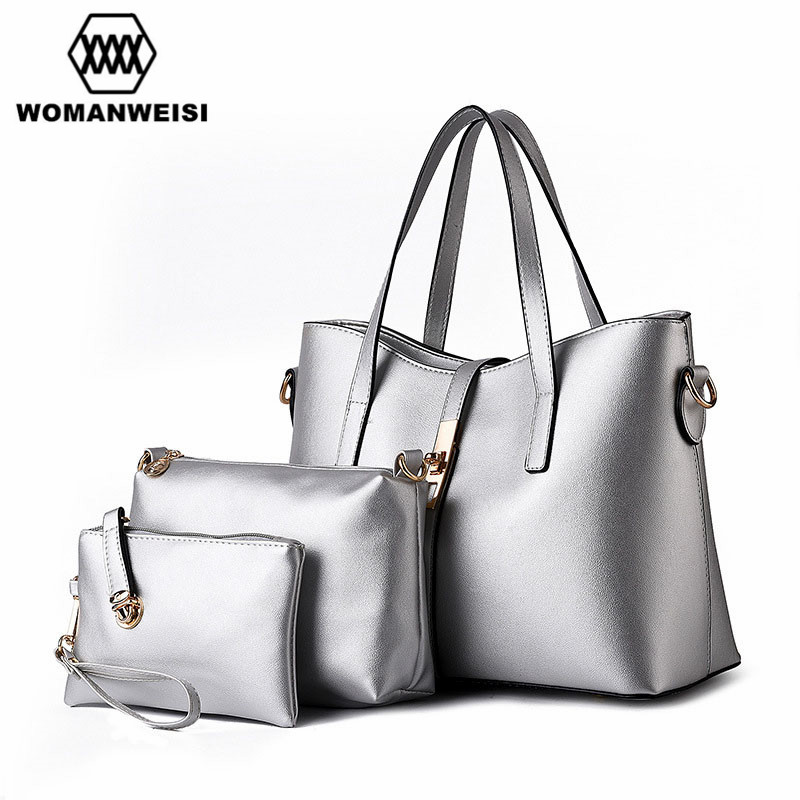 ФОТО 12 Color Luxury Female Purse Handbag Tote Bags Set European and American Style Famous Designer Brand Bags Women Leather Handbags